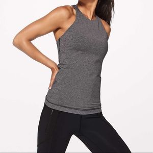 Lululemon In Training Tank Top Keyhole Back Bra